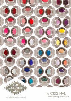 Gel Grid Poster! #biosculpture #biogel #gel #nails #inspiration #colour #catalogue #gelnails #biosculpturegel