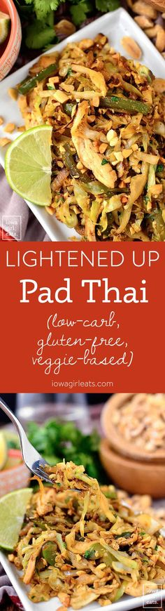 Lightened Up Pad Thai is low-carb, gluten-free, and vegetable-based, yet full of…