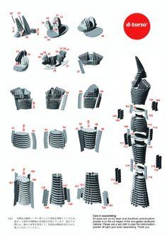 ADAM Tower_natural(kit) | ディートルソ ペーパークラフト by アキ工作社 | ヒトのカタチ///マネキン///アダム
