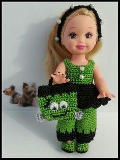Frankenstein Doll Crochet for 4 1/2  Kelly Doll