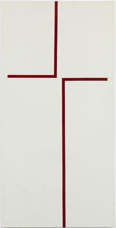 From Whitney Museum of American Art, Carmen Herrera, The Way Acrylic on canvas, 60 × 30 in Abstract Words, Abstract Art, Porte Magazine Mural, Lisson Gallery, Whitney Museum, Art Walk, Grafik Design, Art Plastique, Geometric Art