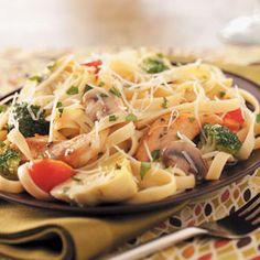 Chicken Artichoke Pasta Recipe from Taste of Home -- shared by Cathy Dick of Roanoke, Virginia