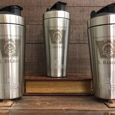 Personalized protein shaker, stainless steel vacuum insulated bottle does not absorb odor and holds ice for over 30hours!  Personalized with names, logos, quotes or anything else you would like! Perfect gifts for athletes or gym goers
