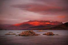Crimson dawn Ord. Isle of Skye. Russell Sherwood