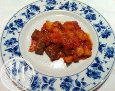 LA CUCINA DI ANTONELLA: Spezzatino di carne patate e cipolle al forno