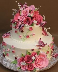 Special Tiered Cakes – Famous Last Words Birthday Wishes Flowers, Happy Birthday Wishes Cake, Happy Birthday Flower, Beautiful Birthday Cakes, Beautiful Wedding Cakes, Gorgeous Cakes, Pretty Cakes, Birthday Blessings, Teen Birthday