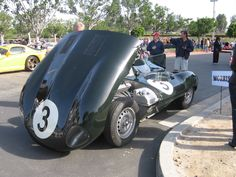 This is a real race car that can be street driven.  Jaguar also made a series of XKSS cars with more roadworthy windshields and other amenities from the same chassis.