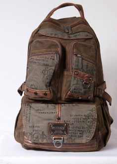 df8f411f5caf STYLISH VINTAGE MILITARY STYLE BACKPACK! PERFECT FOR SCHOOL OR PLAY!  MULTIPLE POCKETS BOTH OUT SIDE AND INSIDE! GREAT VALUE FOR THE PRICE  GUARANTEED!!!