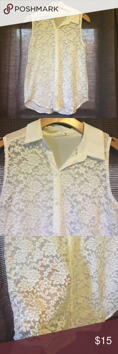 Soprano lace tank top Soprano lace tank top. Sheer front and back. In great shape. Soprano Tops Tank Tops