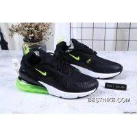 Nike Jacquard Air Max 270 Flyknit Half-palm Cushion Black Green Top Deals  Top Deals 134f4812e