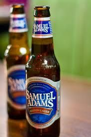 Sam Adams Boston Lager, wait for the after taste.....wait.... maybe I could get used to this!