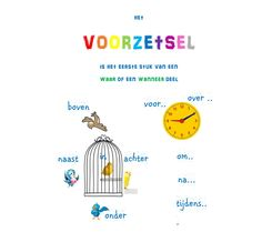 poster voorzetsel Learn Dutch, Dutch Language, School Hacks, Speech And Language, Foreign Languages, Grammar, Back To School, Classroom, Teacher