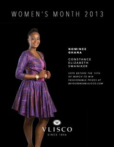 Constance Elizabeth Swaniker from Ghana.~Latest African Fashion, African women dresses, African Prints, African clothing jackets, skirts, short dresses, African men's fashion, children's fashion, African bags, African shoes ~DK