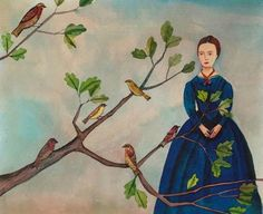 Emily Dickinson by artist Giselle Potter Most Beautiful Love Poems, Beautiful Cats, Emily Dickinson Quotes, Female Poets, Poetry Foundation, Art For Art Sake, Illustrators, Literature, Authors