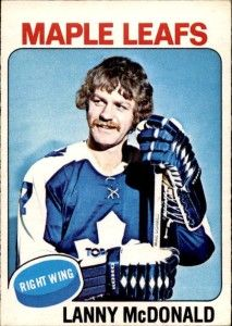 Highlights, stats and hockey card info for Lanny McDonald. Lanny played in the NHL with the Toronto Maple Leafs, Colorado Rockies and Calgary Flames. Lanny Mcdonald, Hockey Cards, Baseball Cards, Maple Leafs Hockey, I Am Canadian, Nhl Season, Sports Figures, National Hockey League, Toronto Maple Leafs