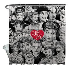 I Love Lucy Faces Shower Curtain White 71x74 Check This Awesome Product By Going