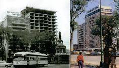 Hotel Continental , en un inicio ocupaba el edificio de la Izquierda, a mediados de 1950 interviene la cadena Hilton y construye el edificio de la esquina de Paseo de la Reforma y Roma y lo une con el edificio original. quedo muy dañado en 1985 y hubo que demolerlo