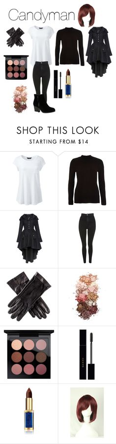 """""""Candyman From Candyman 1992 Horror Movie"""" by tori-camilleri on Polyvore featuring Lands' End, River Island, Topshop, Black, Sigma, MAC Cosmetics, Gucci, L'Oréal Paris, WithChic and Skechers"""