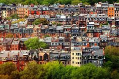 Boston brownstones.