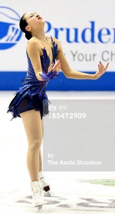 ニュース写真: Mao Asada of Japan performs in the Ladies Free…
