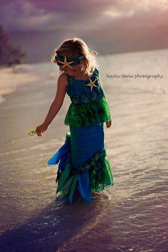 Heart of the Ocean MERMAID CostumeDress Up by TheWhimsyFinShop, $165.00