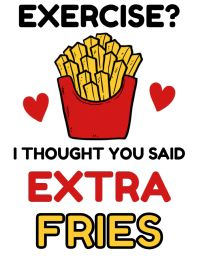 French Fries, Clip Art, Exercise, Gym, Thoughts, Sayings, Fitness, Food, Potato Fry