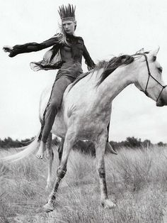 white girl- check horse- check feathers- check racism- double check