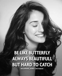 Be like a butterfly Pretty to see but hard to catch ___________________ -Success Quotes -life Quotes -Dreams -Goals ____________________… The post Be like a butterfly Pretty to see but hard to cat… appeared first on Best Pins for Yours - Life Quotes Positive Attitude Quotes, Attitude Quotes For Girls, Crazy Girl Quotes, Postive Quotes, Good Thoughts Quotes, Mood Quotes, Happy Girl Quotes, Negative Attitude, Quotes Girls