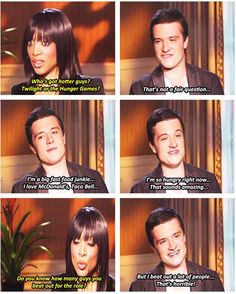 Josh Acccess Hollywood Interview for The Hunger Games...love this interview... http://watch.accesshollywood.com/video/josh-hutcherson:-i-really-connected-with-peeta-on-the-hunger-games/1488723480001