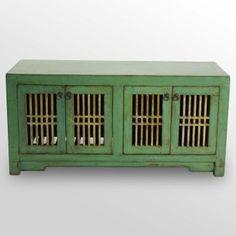 green sideboard; madera home