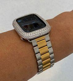 Gold Apple Watch, Apple Watch Bands, Smartwatch, Candy Watch, Silver Apples, Apple Watch Accessories, Toned Women, Gold Rolex, Lab Diamonds