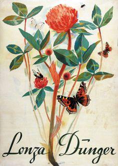 Alois Carigiet 1939 Lonza Dunger Vintage Travel Posters, Poster Vintage, Van Gogh Museum, Swiss Design, Travel Cards, The Little Prince, Switzerland, Butterfly, Illustration