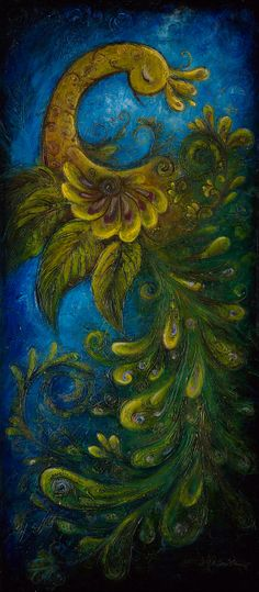 Flair  Large Surreal Acrylic Original Texture by ChingTeoh on Etsy, $750.00