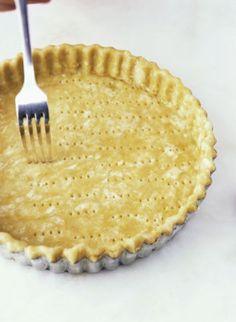 Make a homemade gluten-free pie crust using just three simple ingredients including gluten-free flour.