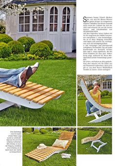 Sun Lounger Plans - Outdoor Furniture Plans