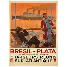 Bresil Plata by Sandy Hook-Framed 35x47 Canvas Art
