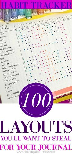110 Layouts You'll Want To Steal For Your Habit Tracker
