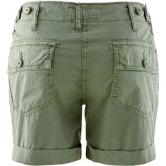 CLOSED Women`s Short Mayfair In Khaki Blue ($52) ❤ liked on Polyvore