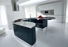 Îlots de cuisine ronds : plus de design ou une bonne séparation des fonctions.