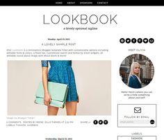 Blogger Template Premade Blog Design  Lookbook by Ello Themes #blogger #bloggertemplate #responsive #blogdesign #blackandwhiteblog