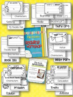 Flip Books for Reading Workshop for ANY Text! The kids will LOVE these! $