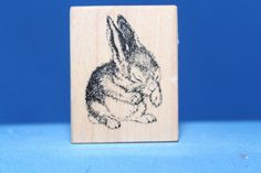 Very Cute Detailed Baby Bunny Rabbit PSX d-1269 Wood & Foam Rubber Stamp      http://autopartspuller.com/ Great Sale 50% off entire store!! Copper, Glassware, Wood Crafts, Scrap Booking