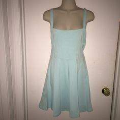 H&M Aqua Skater Dress Sz M Beautiful dress in great condition. H&M Dresses