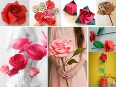 Un material muy socorrido para hacer rosas es el papel. Hay muchísimas maneras de hacer rosas con papel pero seguramente las más espectaculares sean las que aplican la técnica del origami.