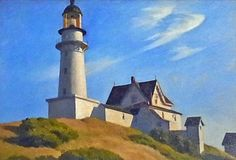 Edward HOPPER 《the lighthouse at Two Lights 》 THE METROPOLITAN MUSEUM OF ART