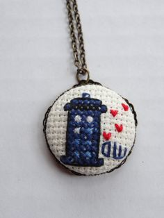 Doctor Who 's Heartbeat TARDIS Cross Stitch by TheLostFlower, $15.00