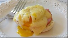 Delicious Eggs Benedict with Homemade Hollandaise sauce #breakfast