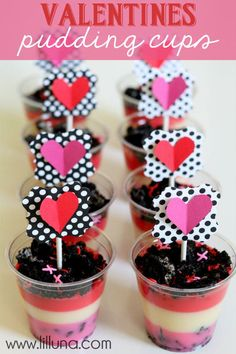 Valentines Pudding Cups