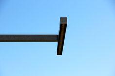 Fotografie van lijnen: een horizontale lijn die loodrecht staat op een verticale lijn.