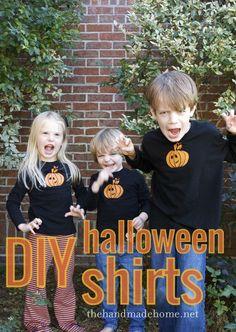 diy halloween t-shirtsthe handmade home